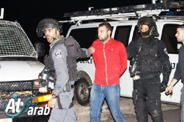 הערב, מעצרים בכפר כנא (צילומים באדיבות אתר Alarab)