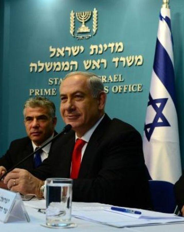 ראש הממשלה בנימין נתניהו ושר האוצר יאיר לפיד.