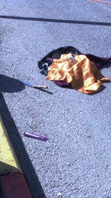 הסכין בה ניסתה לדקור את הישראלי (צילום: חדשות לפני כולם)