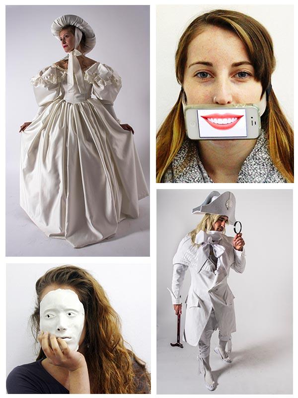 מסכה בעיצובה של ליזה ריצנר, סטודנטית מהמחלקה לעיצוב תעשייתי. צילום: יח