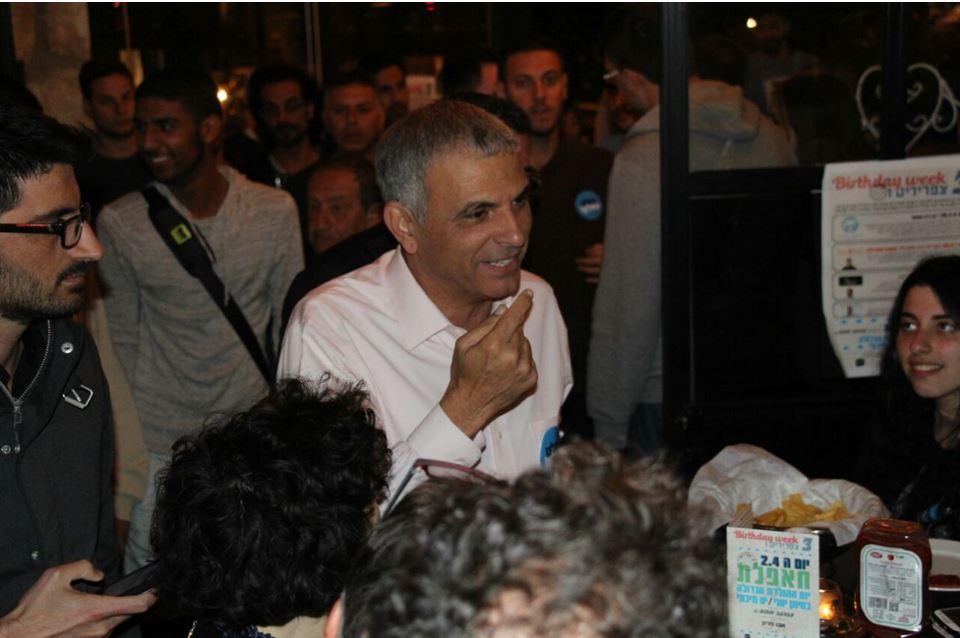 כחלון הערב בכינוס פעילים בחיפה (צילום: סער דוד)