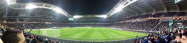 אצטדיון סמי עופר, המשחק בין מכבי חיפה למכבי תל אביב (ינואר 2015). צילום: וויקימדיה
