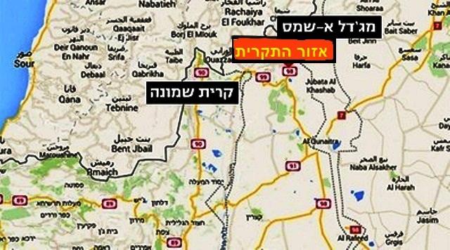 איזור התקרית (מפות גוגל)
