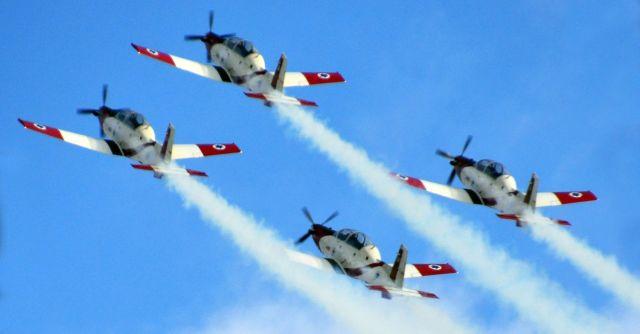הצוות האווירובטי של חיל האוויר. צילום: דף הפייסבוק של חיל האוויר