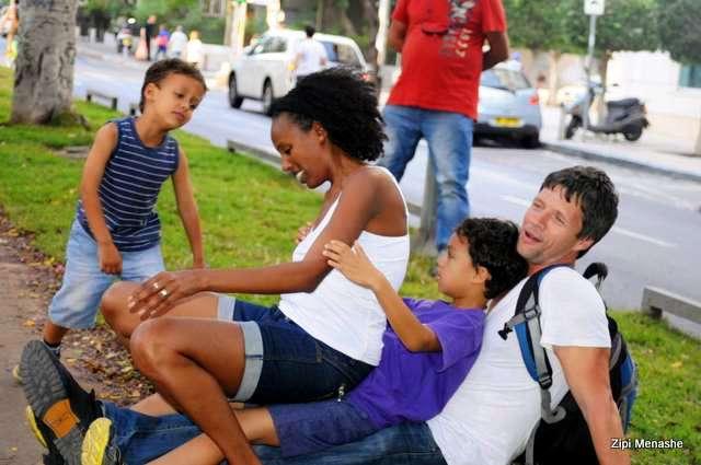 גם משפחות מעורבות הגיעו (צילום: ציפי מנשה)