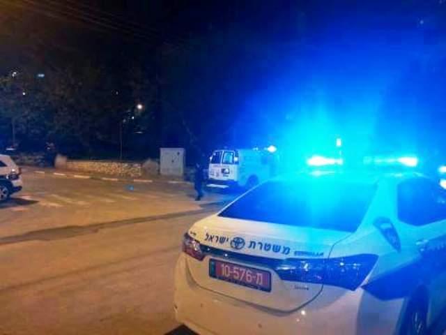 """משטרת ש""""י סגרה צמתים (צילום: סוכנות תצפית"""