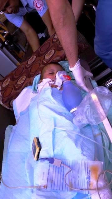 אחיו בן ה-4.5 של עלי דוואבשה מובהל לבית החולים בשכם (צילום: סוכנות שיהאב)