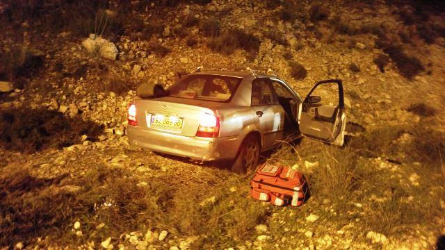 """רכב בני הזוג שנפגע מהירי (צילום: הצלה יו""""ש)"""