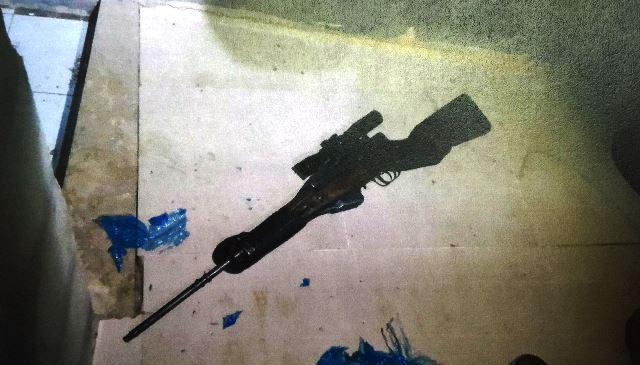 """נשק הצלפים המאולתר (צילום באדיבות השב""""כ)"""