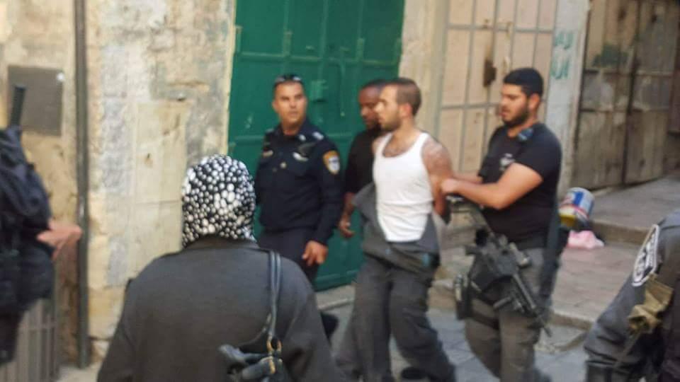 המחבל נלכד ומובל לחקירה (צילום חטיבת דובר המשטרה(