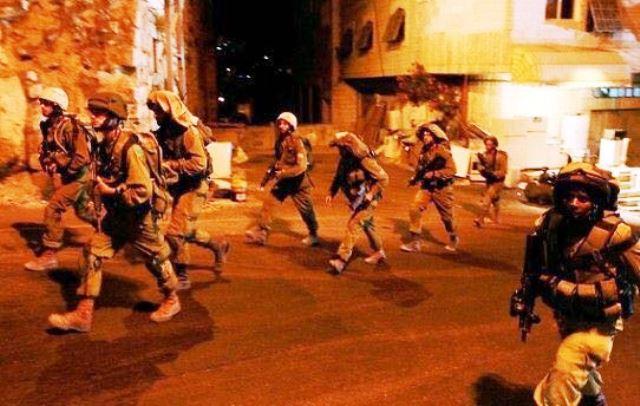 """כוח צה""""ל בקלנדיה (צילום: תקשורת פלסטינית)"""