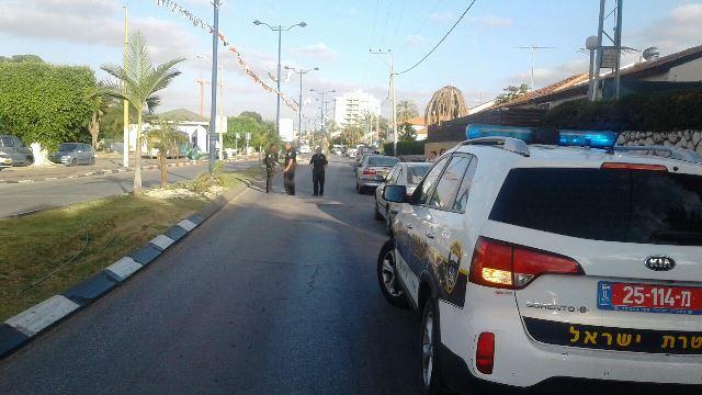 קרית מלאכי - זירת התאונה (צילום: חטיבת דובר המשטרה)