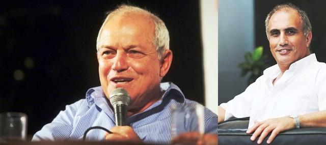 חיים כץ (משמאל)  ומוטי בן ארי  (צילום מדף הפייסבוק)-