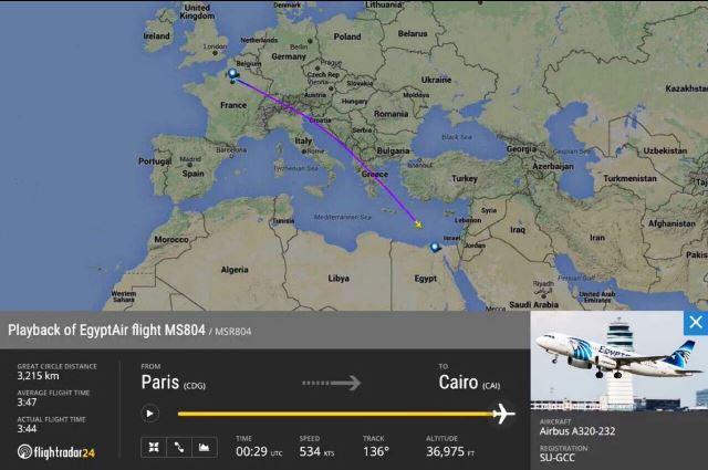 מסלול הטיסה של המטוס ונקודת העלמותו