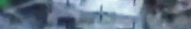 """בית המסתור נפגע מרקטה - צילומי אוויר (צילום: דובר צה""""ל)"""