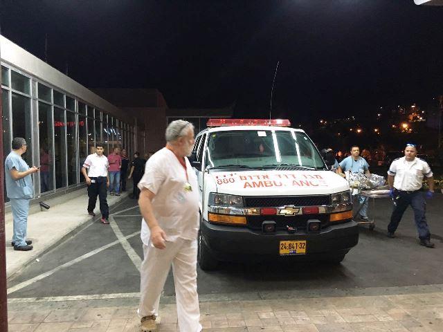הפצועים מגיעים למרכז הרפואי זיו בצפת (צילום: המרכז הרפואי זיו)