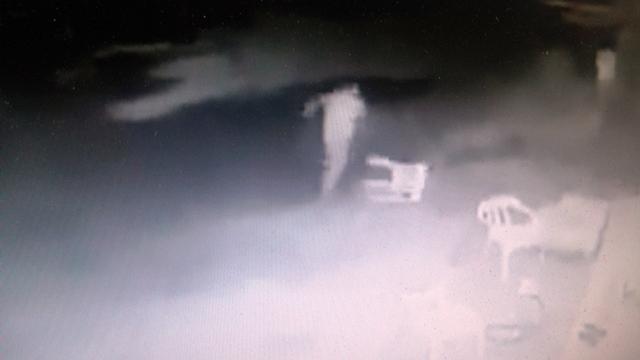 הצעירים מבחינים ברימון שהושלך ונמלטים (צילום מסך מתוך הסרטון)