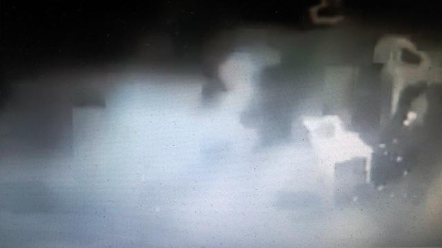 הרימון מתפוצץ (צילום מסך מתוך הסרטון)