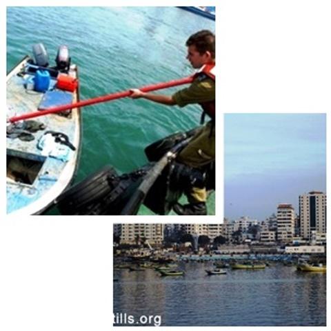 """צילום השתלטות על סירה (ארכיון דובר צה""""ל) סירות דיג במימי הרצועה (אקטיבסטילס)"""