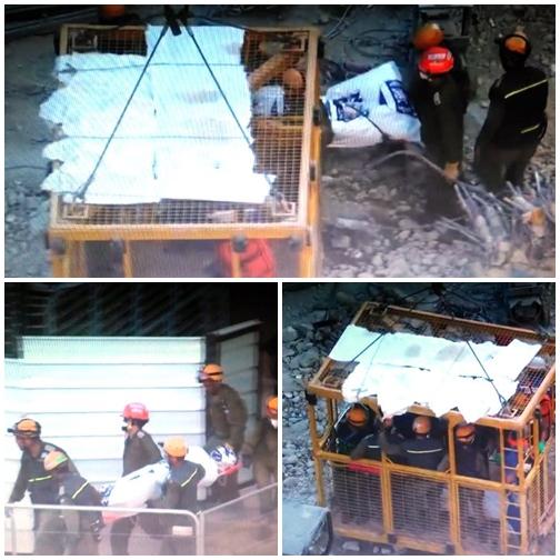 חילוץ הגופה האחרונה (קולז'' צילום מסך)