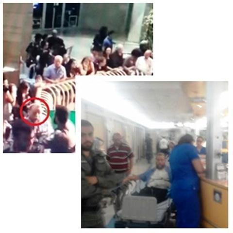 """למעלה גופשטיין בעת מעצרו - מימין גופשטיין בביה""""ח (צילומים באדיבות המצולם)"""