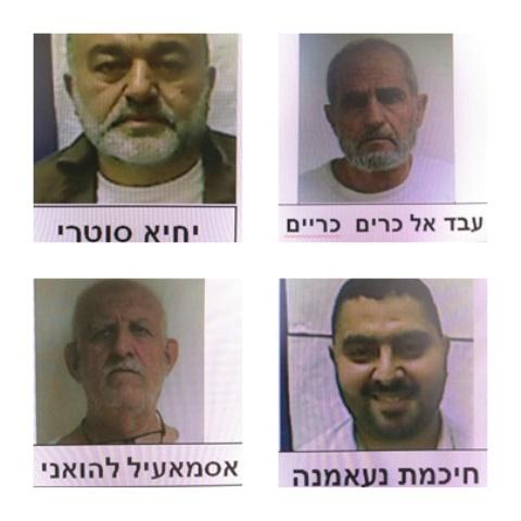ארבעת החשודים (צילום באדיבות משטרת ישראל)