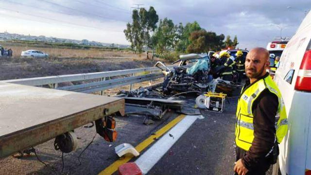 התאונה בכביש 6 (חדשות לפני כולם)