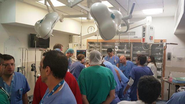 הפצועים בחדר הטראומה (צילום: דוברות הדסה עין כרם)