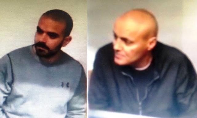 הררי (מימין) ובן דוד הבוקר בבית המשפט (צילום מסך)