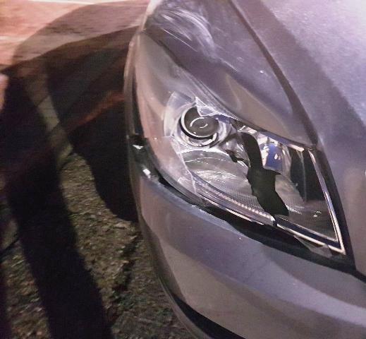 פנס הרכב הפוגע כפי שנתפס (צילום: משטרת ישראל)