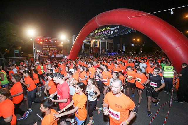 ביום חמישי מרוץ הלילה של באר שבע Light Run 2017