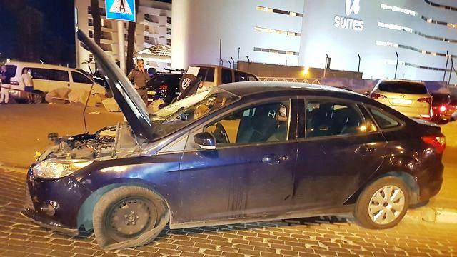 """הרכב הפוגע בכיכר מרידיאן (צילום מ""""דא מבצעי)"""