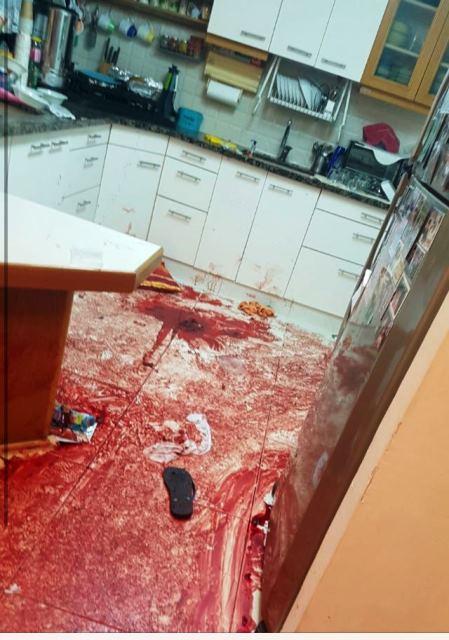 """זירת הרצח (צילום: דובר צה""""ל)"""