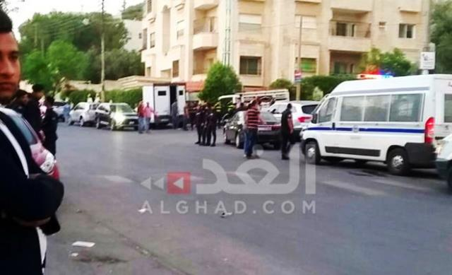 שגרירות ישראל בעמאן הבוקר (צילום: תקשורת ערבית)
