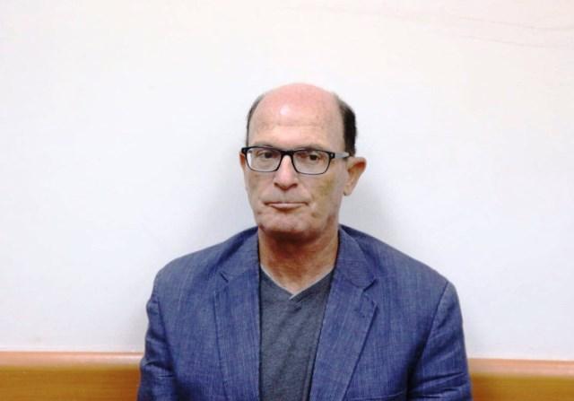 אבריאל בר יוסף בעת הדיון על הארכת מעצרו (צילום מסך )