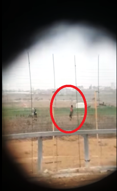 הפלסטיני, עמד ונורה מבלי שזז  (צילום מתוך הסרטון)