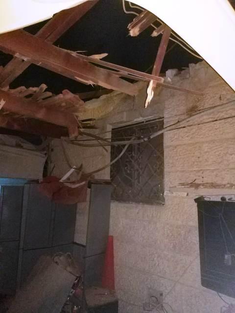 פגיעה במבנה בנתיבות (צילום דוברות המשטרה)