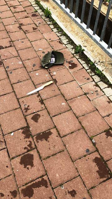 סכין המחבל (צילום: בלב החדשות)