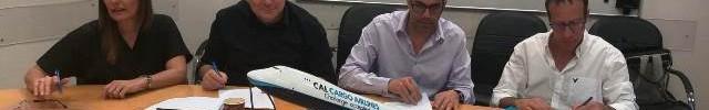 מעמד חתימת ההסכם בק.א.ל (צילום: דוברות ההסתדרות החדשה)