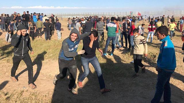 ההפגנות היום (צילום: מקורות פלסטינים)