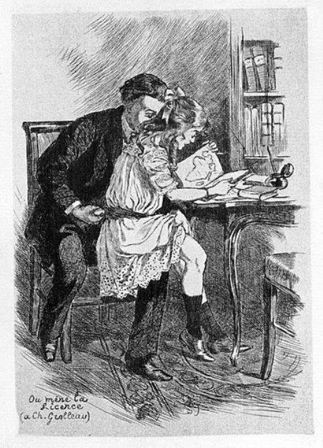 פדופיל - איור של מרטין ואן מאלה משנת 1905 מתוך הוויקיפדיה