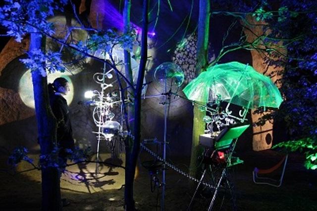 גן התמנון במערת צדקיהו  (צילום: פסטיבל האור)