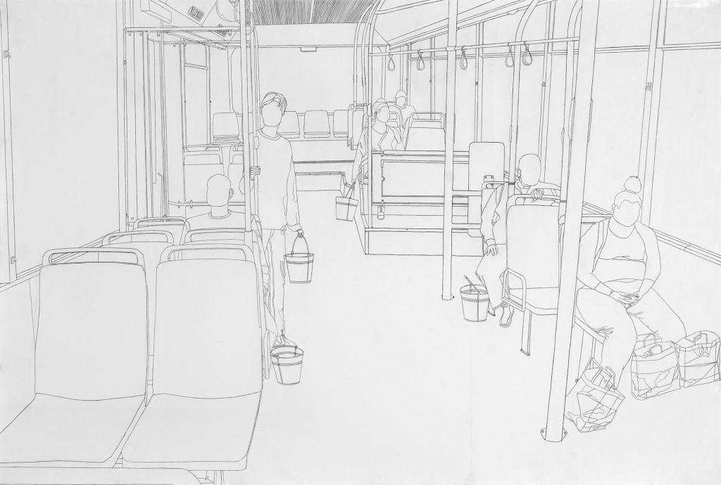נופר לוי  גרפיט על נייר (צילום דניאל סגל)