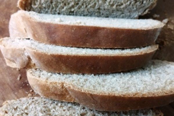 לחם כוסמין מלא (צילום: טלי גרופית)