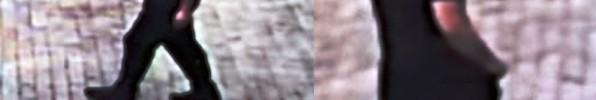 האלמוני המבוקש כפי שצולם במצלמות אבטחה (משטרת ישראל)