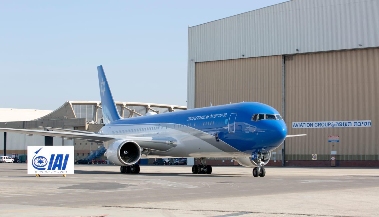 מטוס ראש הממשלה (צילום: אלון רון)