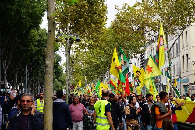 הפגנות תמיכה בכורדים במארסיי