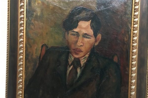 סימה סלונים- דיוקן חיים סוטין- 1938- צילום סיגל גליל
