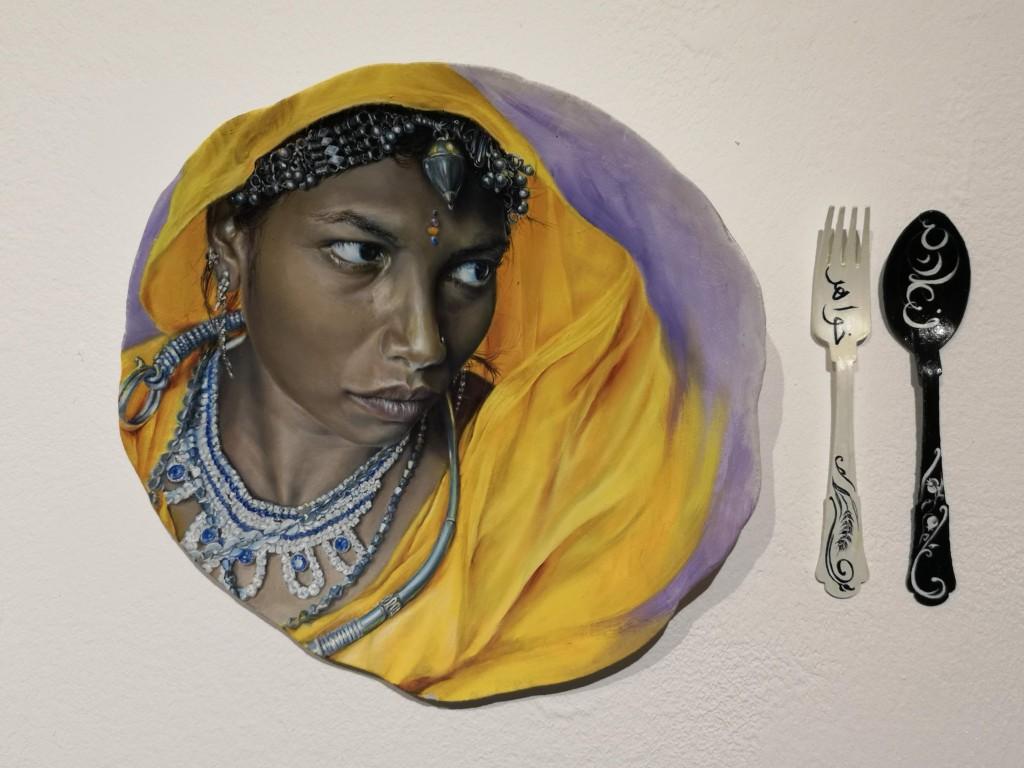 לאכול עם חברות - פרוייקט אמנות חברתי, שירלי סיגל. צילום: שרה פלד
