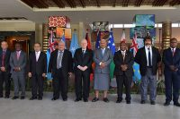 President Rivlin at the summit meeting in Fiji